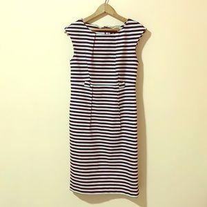 Black & White Striped Midi Dress Size 6